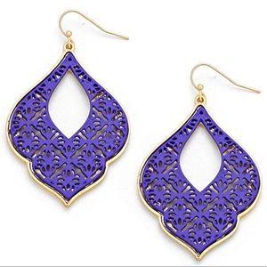 """Morocco"" Purple Dangle Earrings,NWT"